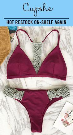 a0071806ac58e Trending Swimwear 2018 : BETTER RESTORCK ON-SHELF AGAIN! Cupshe Say To Only  One Weave Bikini Set features…