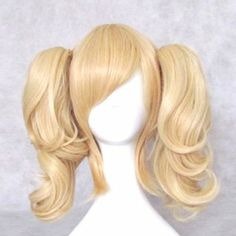 Harley Quinn Wig: Amazon.com: Dream2reality Cosplay_Code Geass Lelouch of the Rebellion_Anya Alstreim_2 ponytails_35cm_blonde_Japanese kanekalon wigs: Clothin...