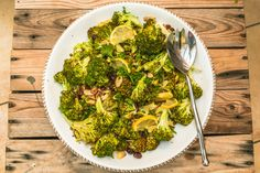 Roasted Broccoli and Cranberry and Lemon Salad