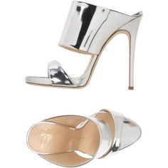 Giuseppe Zanotti Design Sandals ($360) ❤ liked on Polyvore featuring shoes, sandals, silver, heels stilettos, high heel stilettos, real leather shoes, genuine leather shoes and leather footwear #giuseppezanottiheelssilver