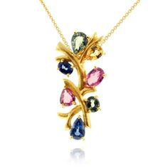 Reis-Nichols Jewelers : Sapphire Branch Necklace