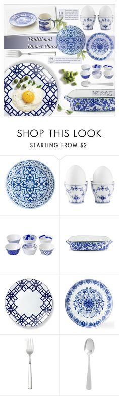 """""""♠ Traditional Plates Tea Party"""" by paty ❤ liked on Polyvore featuring interior, interiors, interior design, home, home decor, interior decorating, Royal Copenhagen, Royal Doulton, Oneida and Disney"""