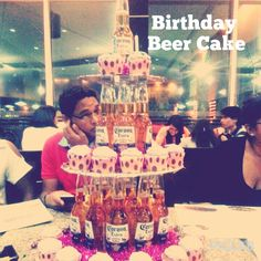 BIRTHDAY BEER CAKE! My friends gave this to me in my 19th birthday surprise! Great idea!