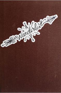 wanderlust sticker – Tattoos - Never tell me Foot Tattoos, Cute Tattoos, Body Art Tattoos, New Tattoos, Small Tattoos, Tatoos, Jeep Tattoo, I Tattoo, Tattoo Pics