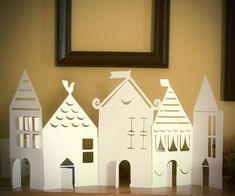 ACCORDION-FOLD PAPER HOUSE CHRISTMAS VILLAGE