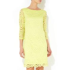 Lime green petite lace dress