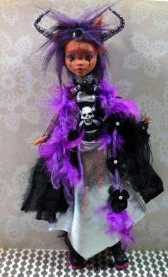 Scimegalogothika OOAK Monster High Custom Altered Art Doll Fantasy Goth Repaint | eBay