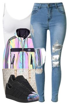 """""""d a b"""" by trinsowavy ❤ liked on Polyvore featuring adidas and MICHAEL Michael Kors"""