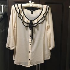 Forever 21 blouse  Elegant color with three quarter sleeve. Match jeans and skirt. Never wear it brand new. Forever 21 Tops Blouses