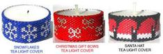 CHRISTMAS TEA LIGHT CANDLE COVERS - GROUP 1 at Sova-Enterprises.com