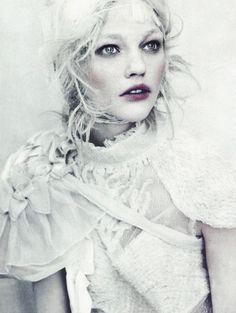 A White Story, Sasha Pivovarova photographed by Paolo Roversi for Vogue Italia April 2010