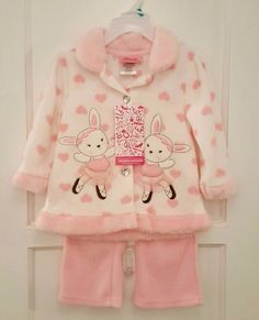 LITTLE ME 100/% Cotton 2 pc Set White PUPPY TAILS Hooded Terry Towel w//Mitten NWT