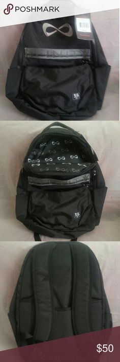 Nfinity Backpack (The Weekender) ??Brand New?? w/ tags. (Black / Gray Logo). This is the perfect bag to get you from school to the gym, even competitions comfortably. Designed to stylishly hold all of your gear with 8 compartments. This bag adds convenience to the rigors of travel, and mesh padded shoulder straps and back to give you total comfort and support. Also has a detachable bag w/ a strap 2 carry it. Bags Backpacks