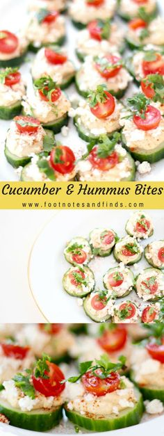 Cucumber and Hummus Bites More