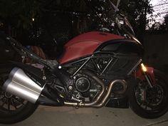 Ducati Diavel. Mine- now red thanks to  plasti dip!