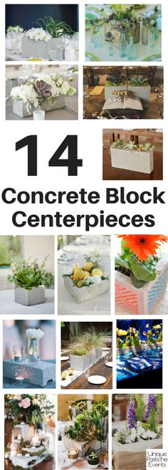 14 Concrete Block Centerpieces for Any Event #IdeaBoard #InspirationBoard