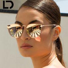 DOLCE VISION Rose Métal Cadre Cat Eye Mode Miroir lunettes de Soleil Femmes  D origine fbeed0e4a2a2