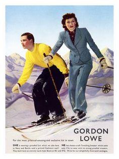 1930s ad for Gordon Lowe ski clothing