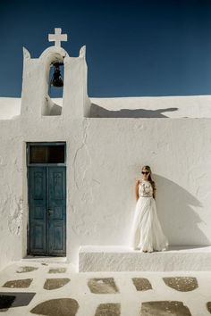 Whimsical & bohemian wedding in Greece- Destination wedding in the Mediterranean Santorini Wedding, Greece Wedding, Santorini Photographer, Exotic Wedding, Santorini Island, Church Wedding, Wedding Pictures, Wedding Venues, Wedding Planning