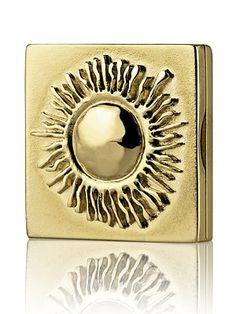 Estee Lauder * Beautiful Antique Sun Solid Perfume Compact