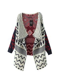 New In Geometric Pattern Cardigans For Women