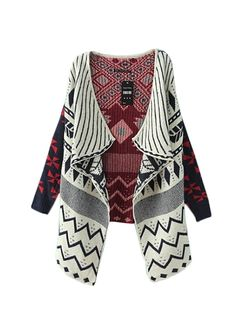 New In Geometric Pattern Cardigans For Women