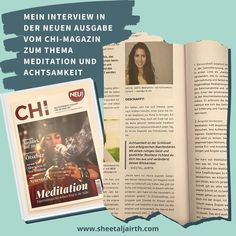 """Unkonventionelles Mindset on Instagram: """"{Werbung Eigenwerbung} Ich hatte die wundervolle Gelegenheit, für das tolle @chimagazin ein Interview zum Thema Meditation und Achtsamkeit…"""" Stress, Meditation, Interview, Cover, Books, Instagram, Self Promotion, Law, Mindfulness"""
