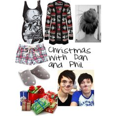 """""""Christmas with Dan and Phil"""" by catching-lightning on Polyvore"""