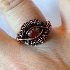 TUTORIAL Dragon Eye Ring Wire Wrapped by CoparAingealTutorial