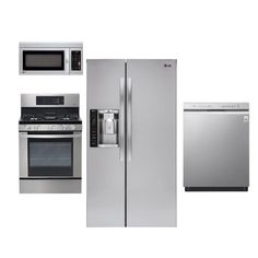 LG Stainless Steel 4 Piece Kitchen Appliance Package