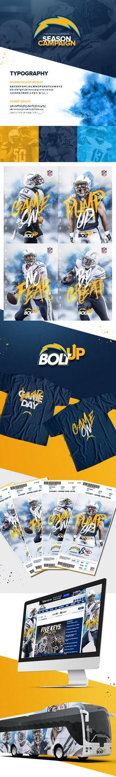 Fictitious campaign made for the Chargers, a NFL team from San Diego.