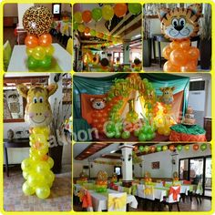 Jungle Safari Balloon Decors