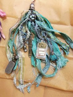Pat Winter Gatherings: New York Part one Ribbon Jewelry, Tassel Jewelry, Textile Jewelry, Fabric Jewelry, Jewelry Crafts, Beaded Jewelry, Jewelery, Handmade Jewelry, Tassel Necklace