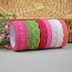 1cm–3cm Width MIX COLOUR Cotton Lace Trim Fabric/DIY Garment Bridal Wedding 30 yards