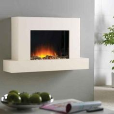 Merveilleux Flamerite Jaeger 1020 Wall Mounted Electric Fire Suite