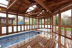 Another example of a gorgeous, light-filled Endless Pool sunroom.