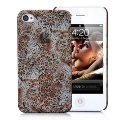 Leopard Skin Pattern  Hard Case Cover for iPhone 4S (Small Dots)