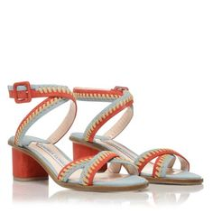 """""""I'm always on the lookout for statement heels that are low to the ground, and Andrea Gomez's Bea Red pair ..."""