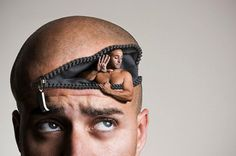 Spanish Artist Manu Pombrolis creates fantastically surreal self portraits using digital manipulations.