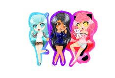 Katelyn, Kawaii~Chan, and Aphmau by DAPanda2S on DeviantArt