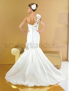 Mermaid Wedding Gowns   Kaylees Bridal - Shantung One Shoulder Mermaid Wedding Dress