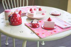 tea party placemat and napkin set