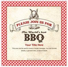Summer BBQ custom online invitations