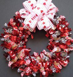 Caramel Creme Candy Wreath Edible Red by CandyWreathsbyCarla