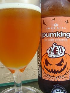 Southern Tier Pumpking - best pumpkin beer award. Try it with brown sugar around the rim of your glass.