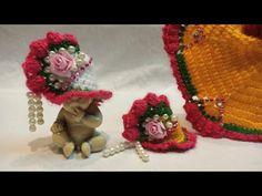 Crochet Stitches, Crochet Hats, Laddu Gopal Dresses, Poncho Dress, Ladoo Gopal, Woolen Dresses, Knitting Basics, Diwali Craft, Teddy Bear