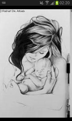 Mum Mother Son Tattoos, Mommy Tattoos, Baby Tattoos, Body Art Tattoos, Drawing Sketches, Pencil Drawings, Art Drawings, Smal Tattoo, Arte Latina
