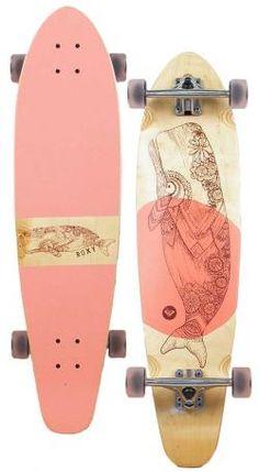 Roxy Longboard Skateboards | Roxy Balina Longboard Skateboard - Pink at Surfboards Etc (4910702)