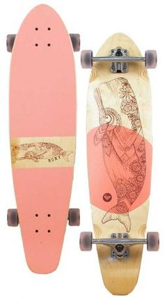 Roxy Longboard Skateboards | Roxy Balina Longboard Skateboard - Pink at Surfboards Etc (4910702)