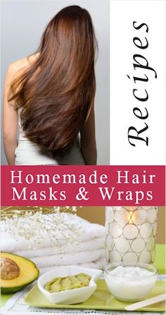 homemade hair masks and conditioning wraps. (Will definitely need this after all the hair dying I've been doing lately)